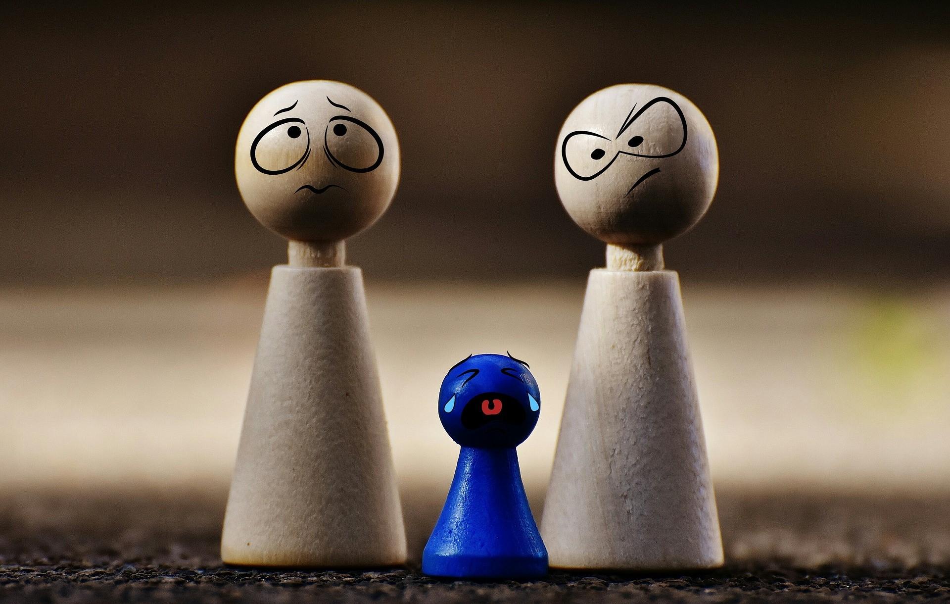 Velká vzdálenost rodičů dítěte